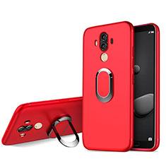 Etui Ultra Fine Silicone Souple avec Support Bague Anneau pour Huawei Mate 10 Pro Rouge
