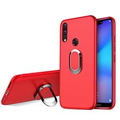 Etui Ultra Fine Silicone Souple avec Support Bague Anneau pour Huawei P20 Lite Rouge