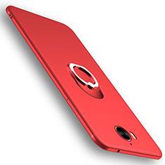 Etui Ultra Fine Silicone Souple avec Support Bague Anneau pour Huawei Y5 (2017) Rouge