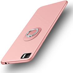 Etui Ultra Fine Silicone Souple et Support Bague Anneau pour Xiaomi Mi 3 Or Rose