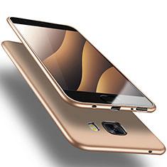 Etui Ultra Fine Silicone Souple S03 pour Samsung Galaxy C9 Pro C9000 Or