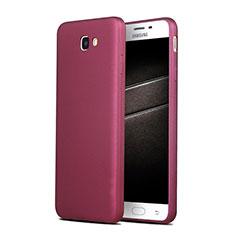 Etui Ultra Fine Silicone Souple S03 pour Samsung Galaxy J7 Prime Violet