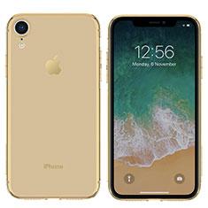 Etui Ultra Fine Silicone Souple Transparente pour Apple iPhone XR Or