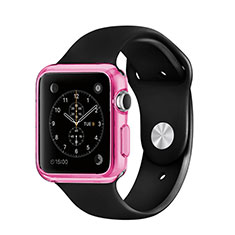 Etui Ultra Fine Silicone Souple Transparente pour Apple iWatch 38mm Rose