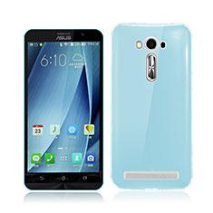 Etui Ultra Fine Silicone Souple Transparente pour Asus Zenfone 2 Laser ZE500KL ZE550KL Bleu