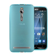 Etui Ultra Fine Silicone Souple Transparente pour Asus Zenfone 2 ZE551ML ZE550ML Bleu