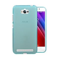 Etui Ultra Fine Silicone Souple Transparente pour Asus Zenfone Max ZC550KL Bleu