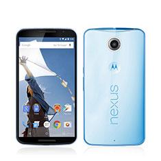 Etui Ultra Fine Silicone Souple Transparente pour Google Nexus 6 Bleu