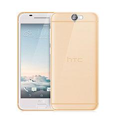 Etui Ultra Fine Silicone Souple Transparente pour HTC One A9 Or