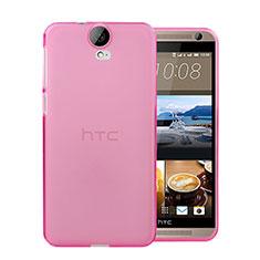 Etui Ultra Fine Silicone Souple Transparente pour HTC One E9 Plus Rose