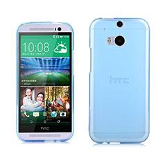 Etui Ultra Fine Silicone Souple Transparente pour HTC One M8 Bleu