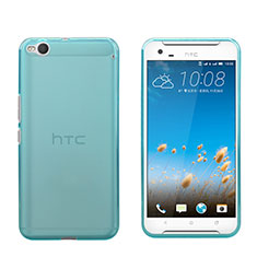 Etui Ultra Fine Silicone Souple Transparente pour HTC One X9 Bleu