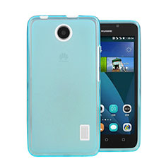 Etui Ultra Fine Silicone Souple Transparente pour Huawei Ascend Y635 Dual SIM Bleu