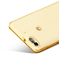 Etui Ultra Fine Silicone Souple Transparente pour Huawei G Play Mini Or