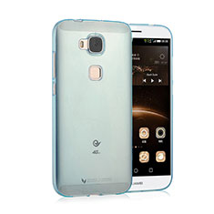Etui Ultra Fine Silicone Souple Transparente pour Huawei G8 Bleu