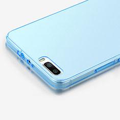 Etui Ultra Fine Silicone Souple Transparente pour Huawei Honor 6 Plus Bleu