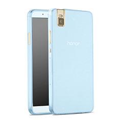 Etui Ultra Fine Silicone Souple Transparente pour Huawei Honor 7i shot X Bleu