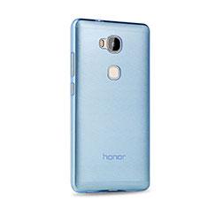 Etui Ultra Fine Silicone Souple Transparente pour Huawei Honor Play 5X Bleu