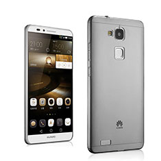 Etui Ultra Fine Silicone Souple Transparente pour Huawei Mate 7 Gris