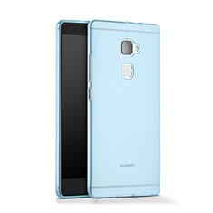 Etui Ultra Fine Silicone Souple Transparente pour Huawei Mate S Bleu