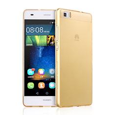 Etui Ultra Fine Silicone Souple Transparente pour Huawei P8 Lite Or