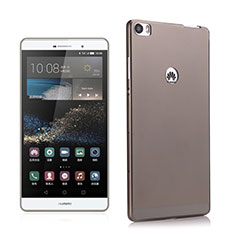 Etui Ultra Fine Silicone Souple Transparente pour Huawei P8 Max Gris