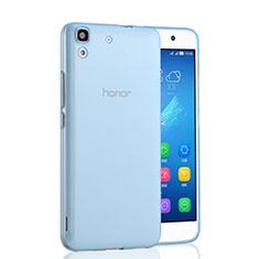 Etui Ultra Fine Silicone Souple Transparente pour Huawei Y6 Bleu