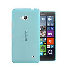 Etui Ultra Fine Silicone Souple Transparente pour Microsoft Lumia 640 Bleu