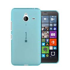 Etui Ultra Fine Silicone Souple Transparente pour Microsoft Lumia 640 XL Lte Bleu