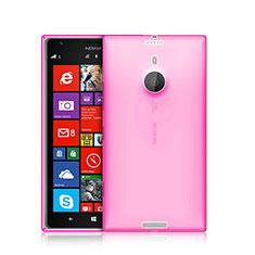 Etui Ultra Fine Silicone Souple Transparente pour Nokia Lumia 1520 Rose