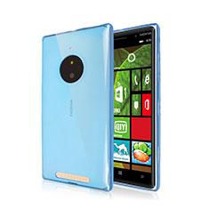 Etui Ultra Fine Silicone Souple Transparente pour Nokia Lumia 830 Bleu