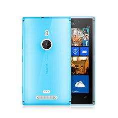 Etui Ultra Fine Silicone Souple Transparente pour Nokia Lumia 925 Bleu