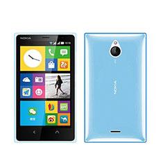 Etui Ultra Fine Silicone Souple Transparente pour Nokia X2 Dual Sim Bleu