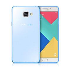 Etui Ultra Fine Silicone Souple Transparente pour Samsung Galaxy A3 (2016) SM-A310F Bleu