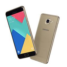 Etui Ultra Fine Silicone Souple Transparente pour Samsung Galaxy A7 (2016) A7100 Gris