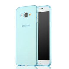 Etui Ultra Fine Silicone Souple Transparente pour Samsung Galaxy A7 Duos SM-A700F A700FD Bleu