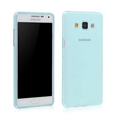 Etui Ultra Fine Silicone Souple Transparente pour Samsung Galaxy Grand 3 G7200 Bleu