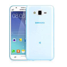 Etui Ultra Fine Silicone Souple Transparente pour Samsung Galaxy J3 Bleu