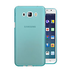 Etui Ultra Fine Silicone Souple Transparente pour Samsung Galaxy J5 (2016) J510FN J5108 Bleu
