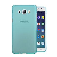Etui Ultra Fine Silicone Souple Transparente pour Samsung Galaxy J5 Duos (2016) Bleu