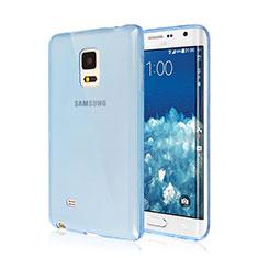 Etui Ultra Fine Silicone Souple Transparente pour Samsung Galaxy Note Edge SM-N915F Bleu