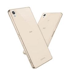 Etui Ultra Fine Silicone Souple Transparente pour Sony Xperia Z5 Or