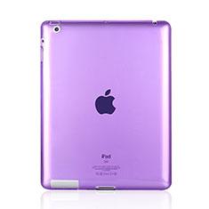 Etui Ultra Fine TPU Souple Transparente pour Apple iPad 4 Violet