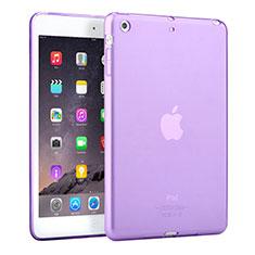 Etui Ultra Fine TPU Souple Transparente pour Apple iPad Mini Violet