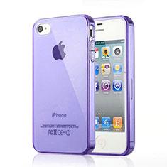 Etui Ultra Fine TPU Souple Transparente pour Apple iPhone 4 Violet