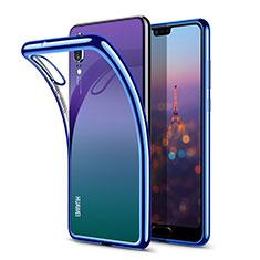 Etui Ultra Fine TPU Souple Transparente T03 pour Huawei P20 Bleu