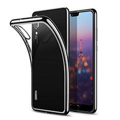 Etui Ultra Fine TPU Souple Transparente T03 pour Huawei P20 Noir