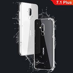 Etui Ultra Fine TPU Souple Transparente T03 pour Nokia 7.1 Plus Clair