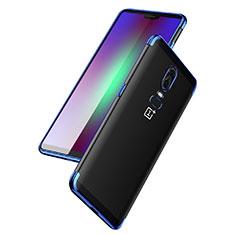 Etui Ultra Fine TPU Souple Transparente T03 pour OnePlus 6 Bleu
