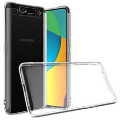 Etui Ultra Fine TPU Souple Transparente T03 pour Samsung Galaxy A80 Clair